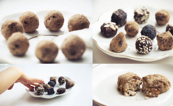 Кокосово-кунжутные шоколадные конфеты