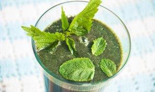 Рецепт крапивно-мятного зеленого коктейля